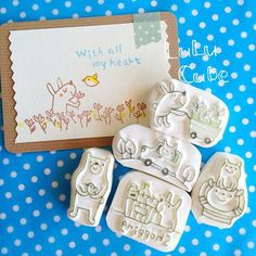 bear bird cat animals cute stamps pajarito pajaro ositos oso gato