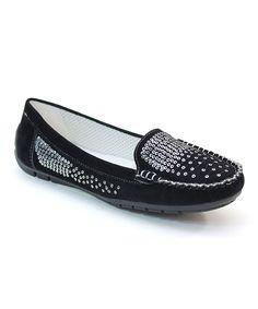 Black Shimmer Loafer