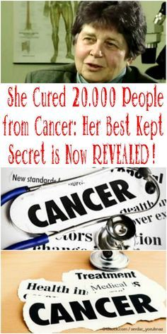 Natural Remedies She Cured People from Cancer : HER BEST KEPT SECRET IS NOW REVEALED! in the American doctor Hulda Clark came to an important discovery, that paved a new direction for the progress in the field of medicine. Natural Cancer Cures, Natural Cures, Natural Health, Natural Treatments, Natural Foods, Natural Oil, Natural Products, Alternative Treatments, Natural Sleep