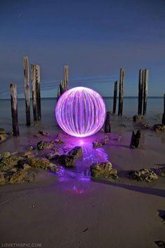 Purple Neon Beach Ball