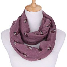 Purple Dog Scarf Infinity Scarf Dot Scarf Dog by Nataliscarves