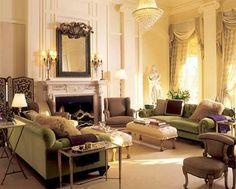 elegantes Wohnzimmer einrichten-viktorianisch