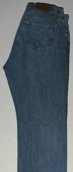 TOMMY HILFIGER ZIPPER-FLY JEANS Men's 38*x32 Classic Fit Blue
