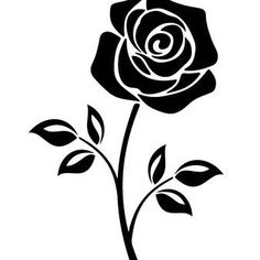 Vector Black Silhouette Of A Rose Flower With Stem Isolated On White Background. flowers vector Best Of Rose Flower Pictures Black And White And Description Black Silhouette, Silhouette Design, Rosa Stencil, Rose Flower Pictures, Rose Clipart, Contour Drawing, Angel Drawing, Black Flowers, Silhouette Cameo Projects