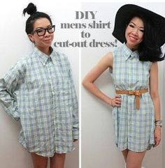 DIY men's shirt to cut out dress