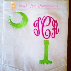 Long Sleeve South Carolina Palmetto Monogram by SweetTeaMonograms, $30.00