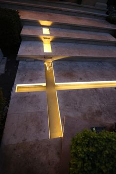 Lighting water rills using LEDs make a huge difference to a water feature.