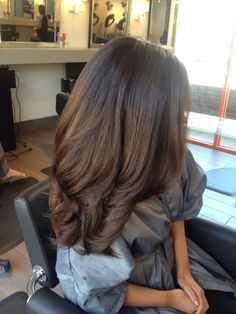Dallas hair stylist Kristin Brown's signature chocolate brunette with a deep depth at the base for added dimension.  www.blondesandblowouts.com