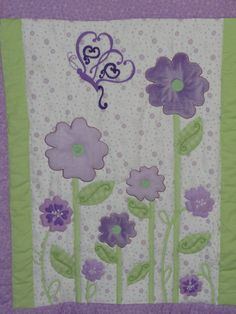 Soft Flannel Baby Girl Quilt with Flowers and by grannysbabyquilts, $66.00