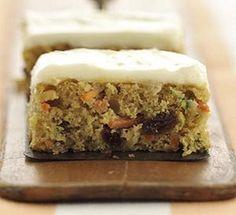 Zucchini-Carrot Dessert Bars-This is a Weight Watchers 3 PointsPlus+ recipe.