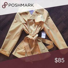 Yellow trench style ☔️ coat by London Fog - NWT! Yellow trench style rain coat by London Fog. NWT London Fog Jackets & Coats Trench Coats