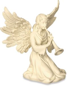 Angel with Horn Symphony of Angels Figurine $14.50 Intricately detailed Angel figurine in AngelStar's classic ivory finish. Beautiful gift for music teachers or anyone who loves music. #angel #horn #symphony #angels #figurine #angelgifts