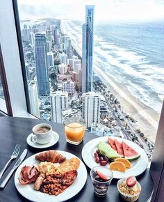 Finally time to relax, and take in the breathtaking Gold Coast views. Perfectly paired with a laid-back brunch Bistro + Bar. Beach Honeymoon Destinations, Breakfast Desayunos, Good Food, Yummy Food, Snack, Recipe Of The Day, Cravings, Food Photography, Food Porn