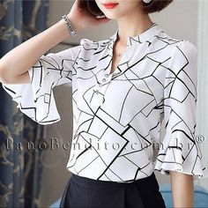 Swans Style is the top online fashion store for women. Shop sexy club dresses, jeans, shoes, bodysuits, skirts and more. Blouse Styles, Blouse Designs, Pippa Middleton, Couture Vintage, Sewing Blouses, Short Tops, Blouse Dress, Western Outfits, Work Attire
