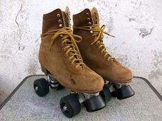 70s suede roller skates - now all I need is to learn how to skate...