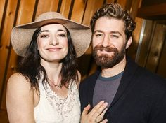 Photo 1 of 17 | Finding Neverland headliners Matthew Morrison and Laura Michelle Kelly sing in the studio. | Photos! Fly to the Recording Studio with Matthew Morrison, Laura Michelle Kelly & the Cast of Finding Neverland | Broadway.com