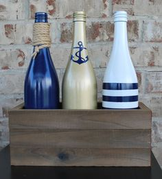 Check out this item in my Etsy shop https://www.etsy.com/listing/387014110/nautical-wood-wine-bottle-centerpiece