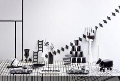 Black and white party, styling Jenni Juurinen   Deko