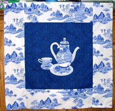 Blue Willow Teapot Quilt from Morning Glory Designs