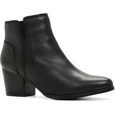 ALDO Lillianne (810 NOK) ❤ liked on Polyvore featuring shoes, boots, ankle booties, ankle boots, black, mid heel booties, zipper boots, aldo booties, black ankle bootie and black booties