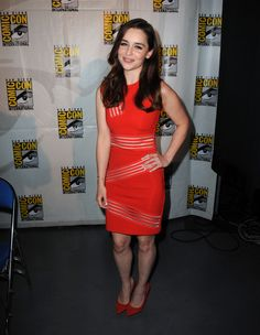 Emilia Clarke In Christopher Kane and Charlotte Olympia Debbie pumps