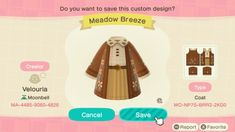 Animal Crossing Wild World, Animal Crossing Villagers, Animal Crossing Game, Animal Crossing Qr Codes Clothes, Animal Crossing Pocket Camp, Kleidung Design, Ac New Leaf, Motifs Animal, Camping Outfits