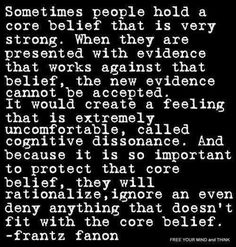 People ignore the facts so they can stay comfortable in their beliefs.