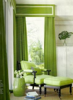 New living room green curtains products 51 ideas Living Room Green, Green Rooms, New Living Room, Living Room Decor, Dining Room, Bedroom Green, Cottage Living, Box Valance, Valance Ideas