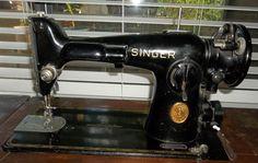 A vintage 1949 Singer sewing machine that still sews straight stitches