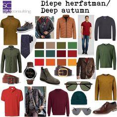 Kleuren en kleding voor het diep herfsttype man