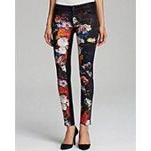 KORAL Jeans - Color Block Floral Skinny in Vanitas