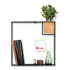 Buy the Cubist Wall Shelf - Natural Beech/Black - Large from Umbra at Amara. Free shipping on orders over $150.00!