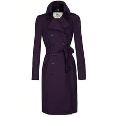 Pretty! / Purple Burberry Trench Coat ❤ liked on Polyvore