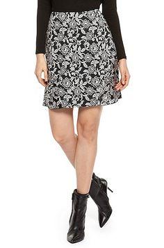'Bebluma' | Stretch Viscose Floral Skirt by BOSS Orange