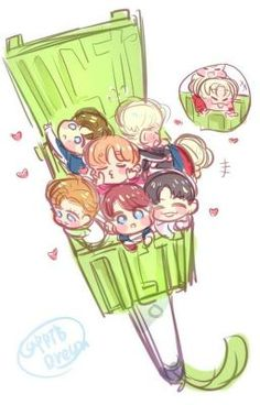 Nct 127, Mint Green Wallpaper Iphone, Anime Chibi, Anime Art, Fandom Kpop, Nct Life, Shinee, Kpop Fanart, Cute Disney