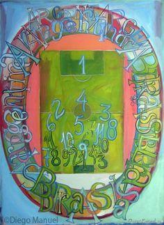Brasil – Argentina 2 (abstracto) , acrylic on canvas, 95 x 130 cm. 2014