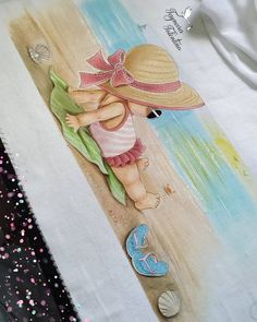 Baby Painting, Tole Painting, Fabric Painting, Painting For Kids, Cute Girl Drawing, Drawing For Kids, Art For Kids, Paper Flowers Craft, Flower Crafts