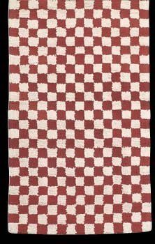 Carpet Runner Red Check 100 Cotton Checked Rug Hooked White 30 X