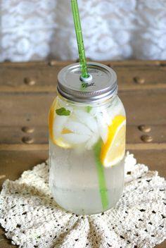 1 Canning Jar Travel Top and Straw - Mason Jar Tumbler Lid and Reusable Straw. $6.00, via Etsy.