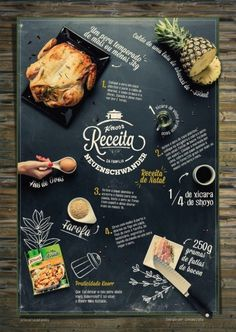 Receitas-de-Família-da-Knorr-03 Web Design, Food Graphic Design, Food Menu Design, Cafe Design, Carta Restaurant, Restaurant Menu Design, Seafood Market, Cafe Menu, Menu Template