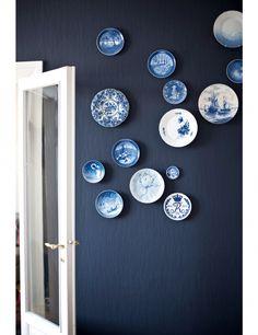 blauwe huizen | Hieronder nog een aantal voorbeelden van Delfts Blauw in huis: van ...