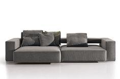 #Sofa Andy tres plazas de B&B #Italia. #Diseño Paolo Piva
