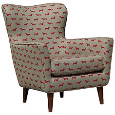 Hound Armchair, wingback armchair with dachshund print, £899 from John Lewis