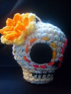 Crochet Pattern-Day of the Dead Skull
