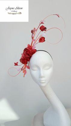 Striking #PinkFascinator, Pink Wedding Fascinator, #RoyalAscotFascinator, Pink Hat,Mother of the Bride Fascinator Kentucky Derby Fascinator by JayneAlisonMillinery on Etsy www.jaynealisonmillinery.co.uk