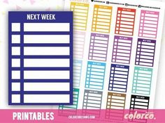 NEXT WEEK sidebar trackers! Check out our FUNCTIONAL STICKERS in the shop! http://ift.tt/1l1r6p4 . . .  #planneraddict #planner #colorcodesigns #plannerspread #plannerlove #plannergoodies #plannerjunkie #plannercommunity #planners #plannernerd #plannerobssessed #plannergirl #plannerlife #erincondrenlifeplanner #eclp #happyplanner #mambi #plannerinspo #erincondren #stationerylover #plannerlust #halfweek #weeklylayout #fullweek #printablestickers