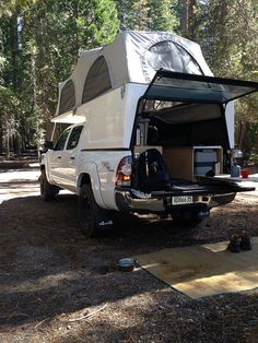 This build has some sweet cabinetry and organization for a Tacoma with a Flippac Pickup Camping, Truck Bed Camping, Camping Gear, Overland Tacoma, Overland Truck, Adventure Trailers, Adventure Campers, Hilux Camper, Truck Bed Tent