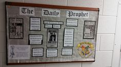 """Harry potter bulletin board. """"Life lessons from Harry Potter """""""