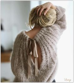 n dimanche glamour . Mode Crochet, Knit Crochet, Knit Fashion, Look Fashion, Looks Style, My Style, Cozy Sweaters, Mode Inspiration, Knitwear