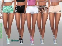 Sporty Shorts Pack No.2 Exotic Call by Pinkzombiecupcakes at TSR • Sims 4 Updates